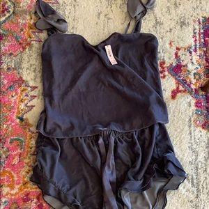Velvet two piece pajama short set